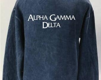 Alpha Gamma Delta Corded Sweatshirt