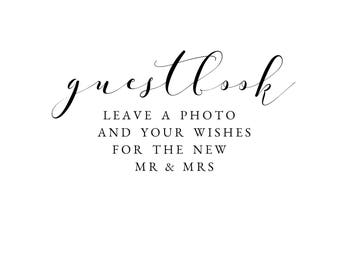 Guestbook Sign || Photo Guestbook || Wedding Sign || Automatic Download