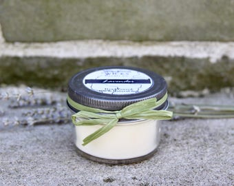 4oz Lavender Soy Candle | Stress Relief | Mason Jar Candle | Hand Poured | Aromatherapy | Eco-Friendly | 8oz | 16oz