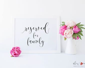Wedding Reserved Sign. Reserved Table Sign. Reserved Signs for Wedding. DIY Wedding. Wedding Signage. Wedding Signs. Ceremony Sign.