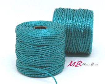 Teal S-Lon Macrame Cord 77 Yards, Nylon Beading Cord .5 mm