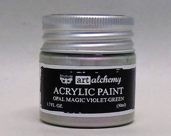 Art Alchemy, Acrylic Paint-Opal Magic Violet-Green -Two-Tone Iridescent Effect  1.7oz (50ml)