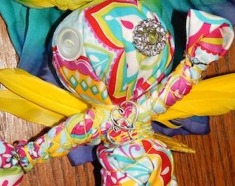Good Juju Fairy Poppet - Voodoo Doll - Good Luck Spell Fetch - Voodoo Poppet - JuJu Doll - Lucky Charm - Folk Art Doll - Magickal Curio
