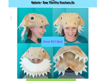Bearded Dragon Hat PDF Sewing Pattern and Tutorial Booklet