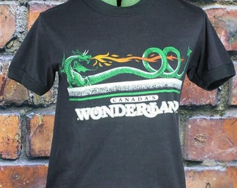 Canada's Wonderland Dragon Fyre Vintage 1980s T-Shirt
