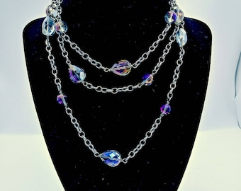 Beautiful Crystal Wrap necklace