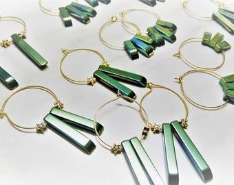 Gold Hoops, Titanium Earrings, Star Hoops, Hoops, Celestial Earrings, Point Earrings, Celestial Hoops, Gold Hoop Earring, Crystal Hoops