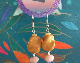 Mustard Twist - Earrings