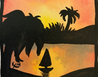Sunset Silhouette Sailing