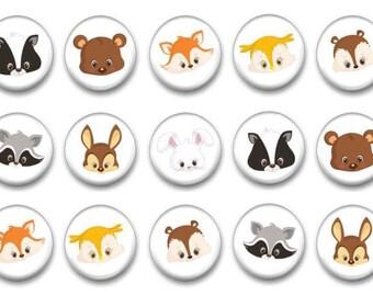 Woodland Animal Fridge Magnets - Baby Animal Party Favors - Learning Toys - Preschool Activities - Kindergarten Teacher - Classroom Magnets
