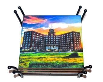 The Berkeley Oceanfront Hotel Asbury Park New Jersey Ceramic Tile Drink Coaster(s) / The Berkeley Wedding Favors