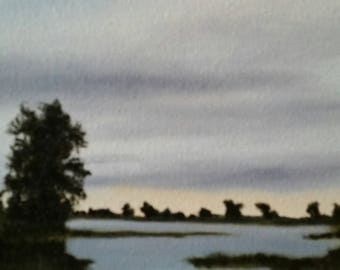 Nightfall - Oil Painting