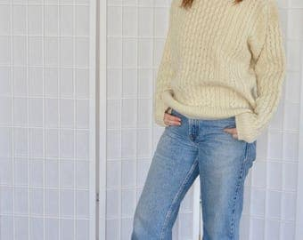 Vintage Irish Wool pull over sweater, Size Small