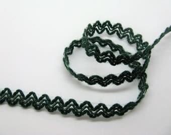 Green serpentine stripe viscose/acrylic height 12mm - ref 29