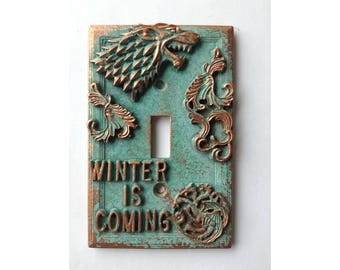 Game of Thrones - Light Switch Cover - Aged Copper/Patina