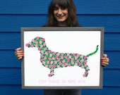 Sixty-Five Roses // 65 Roses // CF Foundation // Cystic Fibrosis Dog Print