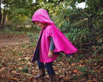 NEW LARGER SIZES!!  Warm & Cozy Car Seat Poncho - Perfect for running errands with your preschooler!