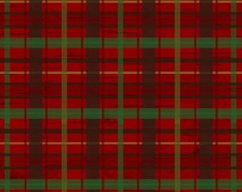 Red Plaid Flannel Fabric-Woodland Retreat-Henry Glass-Plaid Fabric-Christmas Plaid-Christmas Tartan-Christmas Fabric-Christmas Quilt Fabric