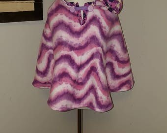 Purple Waves Children's Car Seat Poncho with Hood