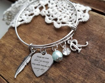 Memorial gift, personalized memorial jewelry, personalized  memorial bracelet, miscarriage, mom dad, child, baby loss, child loss, sympathy