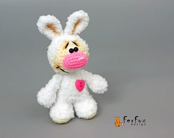 Stuffed bunny etsy stuffed bunny rabbit white rabbit woodland plush bunny heart plush rabbit girlfriend gift valentines day gift negle Image collections