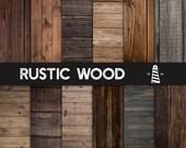Rustic Wood Textures, Natural Rustic Wood Digital Paper, 12x12 Inches Wood Scrapbook Paper, Dark Wood Paper, Dark Brown Wood, BUY5FOR8