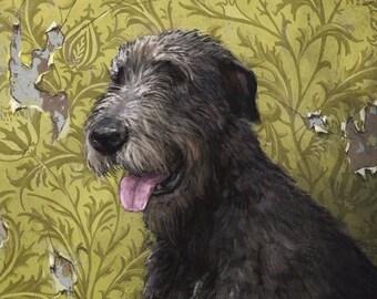 Pet Portrait with Pattern