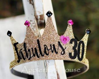 30birthday crown,woman birthday crown,birthday lettering Crown,Birthday Crown,black and gold crown,Adult birthday crown,30 birthday party