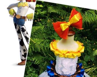 Toy story/Jessie tutu dress and hair bow SET/White yellow tutu dress