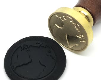 Earth Planet Wax Seal Stamp - Environment protection (STP000025GRP006001)