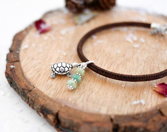 Turtle Vegan Bracelet • Silver jewellery jewelry gifts present for wife girlfriend her, tortoise, wildlife, green, ocean, animals, birthday