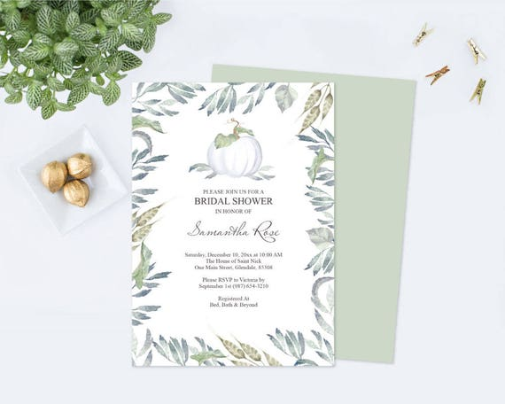 White pumpkin bridal shower invitation bridal shower instant il570xn filmwisefo