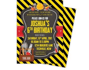 Tools Birthday Invitation, tool party, tool birthday, tool birthday invites, tool invitation, tool party invitation, construction party