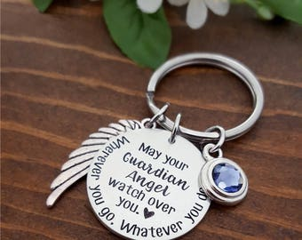 Guardian Angel New Driver Keychain | New Driver Gifts | New Driver Gift | Drive Safe Keychain | Sweet 16 Gifts | New Driver Key Chain