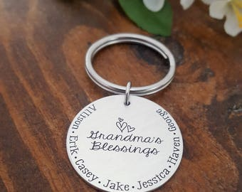 Grandma Key Chain | Grandmas Blessings Gift | Gift For Grandma | Grandmother Gift | Grandma Keychain | Gifts For Grandma | Grandmother Gift