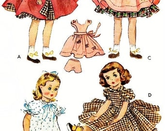 Doll Clothes, PDF Pattern, Doll Clothes Pattern, Vintage Sewing, Sewing Pattern, McCalls 1717, 15 Inch Doll, Doll Pinafore, Digital Download