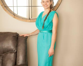 Lovely Turquoise Vintage Dress