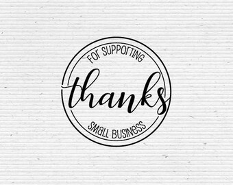 Thank You Stamp, Thanks for Supporting Small Business Message TQ001