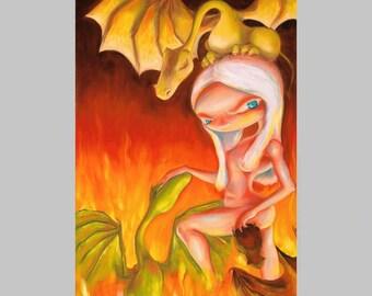 The Music of Dragons - Fun G.O.T. Print