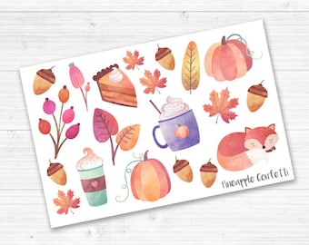 Fall Stickers, Planner Stickers, Autumn Stickers, Decorative Planner Stickers, Erin Condren Stickers, Bullet Journal Stickers, Deco Stickers