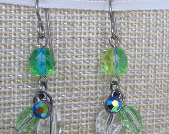 CLEARANCE SALE-Green with Envy Drop Earrings