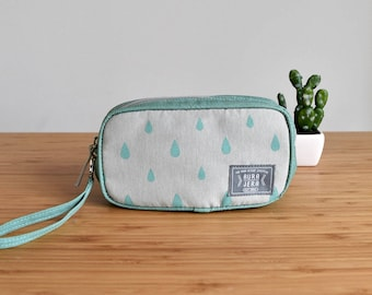 turquoise makeup bag,pencil case,pencil bag,cosmetic bag,cosmetic pounch,makeup storage,gift women