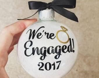 Engagement ornament, Wedding ornament, Christmas ornament, christmas gift,