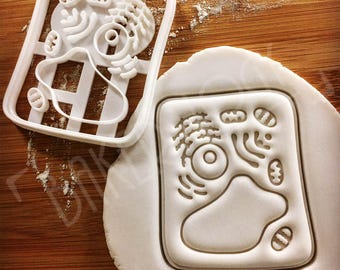 Plant Cell cookie cutter | biscuit cutters Gifts botanist Botany phytology science chloroplast students anatomy student biology | Bakerlogy