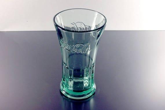 Green Coca Cola Glass, Libbey, Soda Fountain Glass, Restaurant Glass, Heavy Glass, Collectible, 10 Ounce