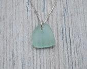Seafoam Green Lake Erie Beach Glass Necklace