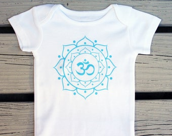 yoga shirt, new baby gift, baby shower gift, hipster baby clothes, cute baby clothes, trendy baby clothes, baby hipster clothes, om symbol
