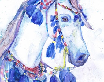 Bunny watercolor painting easter art animals prints bunny horse print equestrian equine art abstract horse painting equine watercolor expressions negle Image collections