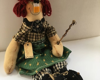 Primitive Raggedy Ann doll Halloween