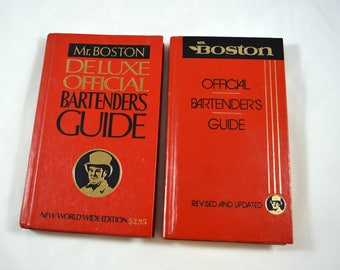 Mr. Boston Official Bartender's Guide Lot of 2 Editions New World Wide 1979 1988 Bartender's Books
